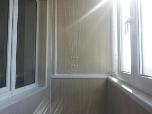 Внутренняя отделка балкона в Харькове