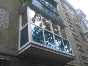 Французский балкон с тонировкой в Харькове