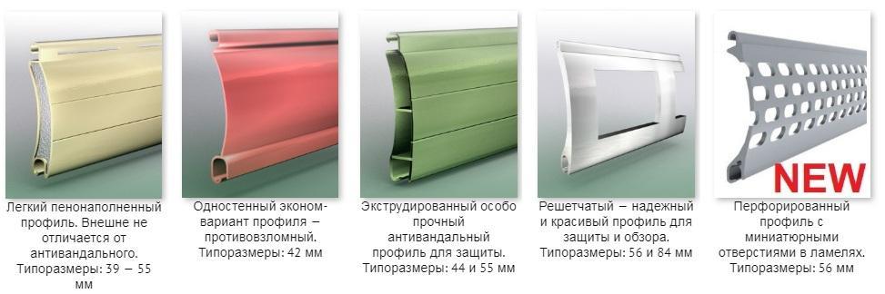 Варианты наполнения ролет в Харькове